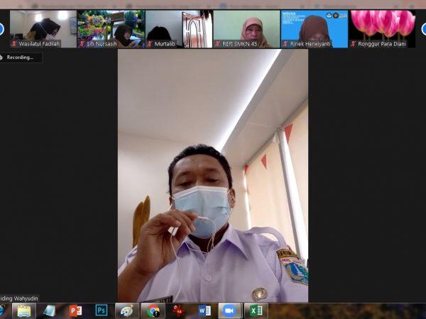 SMK Kolaborasi JB 2 Hadir bersama dalam Pembinaan Kabid SMK, Kasi Dikmen dan Koorwas Wilayah JB2. Efektivitas PJJ di masa Pandemi