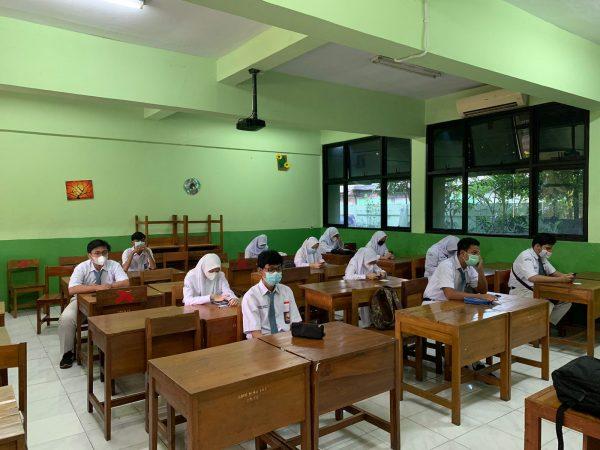 Kegiatan Ujian ANBK SMKN 45 Jakarta tahun 2021