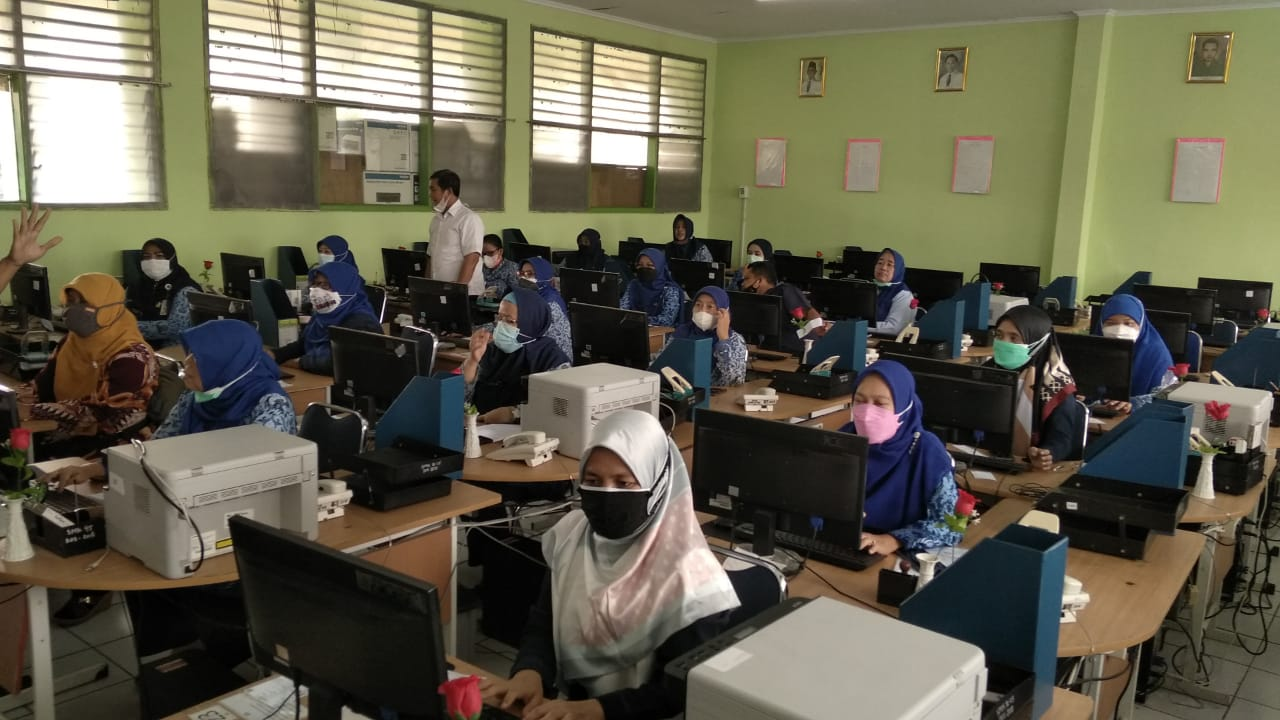 Kegiatan Pengisian Survei Lingkungan ANBK SMKN 45 Jakarta Tahun 2021